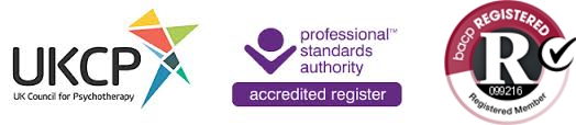 UKCP and BACP Registered and Accredited Psychotherapist and Counsellor PSA 099216 logo