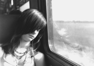 Woman Sleeping on train tiredness insomnia sleep manchester sleep counsellor
