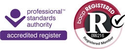 Registered Member of the BACP MBACP Manchester City Centre Logo 099216 Professional Standards Authority